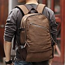 Mens Brown Vintage Canvas Shoulders Outdoor Travel Hiking Student School Laptop Bag Rucksack Backpack