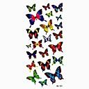 a prueba de agua preciosa de la mariposa etiqueta engomada del tatuaje del molde de la muestra tatuajes temporales para el arte del cuerpo (18.5cm