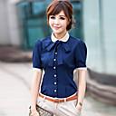 camisa de manga corta elegante swd (azul, negro)