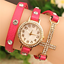 color sólido de las mujeres de amapola todo reloj pulsera de diamantes de imitación partido