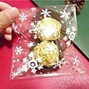10 piezas de copo de nieve de Navidad bolsa de regalo transparente