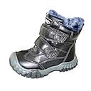 botas de los zapatos de confort botas para la nieve de los muchachos de tacón bajo a media pierna con cremallera