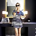CKJ™Womens Mosaic Stripe Fashion Slim Dresses