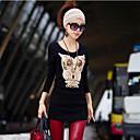 bodycon cuello redondo blusa de estampado floral de coco zhang mujeres