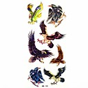 impermeable etiqueta engomada del tatuaje del molde águila temporal muestra de tatuajes para el arte del cuerpo (18.5cm  8.5cm)