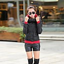 abrigo con capucha de la moda de las mujeres (más color)