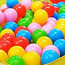 100pcs 5.5cm coloridos juguetes de la piscina de agua bola océano jugando plástico (color al azar)