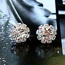 Womens Fashion Zircon Sunflowers Earrings