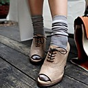 Womens Candy Colors Vintage Stripe Sock