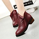 Womens Shoes Smandy Round Toe Chunky Heel  Ankle Boots  More Colors available