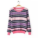 SHANGFEI™ Womens Round Collar Geometric Fashion Sweaters(More Colors)