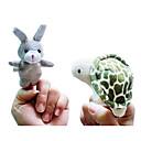2pcs el conejo y el animal historia tortuga marionetas de dedo de peluche niños hablan prop