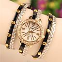 elegante reloj de pulsera de perlas todo partido de imitación de las mujeres de amapola