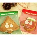 10 piezas bolsa de regalo doble muñeco de nieve (rojo, verde)