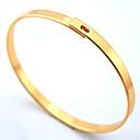 18k brazalete de platino oro grueso lindo sencillo diseño de la mujer chapada pulsera de las mujeres de alta calidad