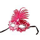 máscara del partido de las mujeres hermosas de color rosa