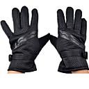 a prueba de viento calientes guantes de cuero de los hombres