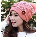 Womens Fashion Buckle Wool Cap