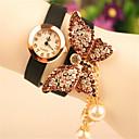 elegante diamante de imitación de las mujeres de amapolaamp;reloj pulsera de perlas