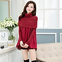 Zian Womens High Neck Pullover Casual Fashion Slim Cloak Knitwear(More Colors)