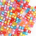 DIY Rainbow Loom Style Rubber Accessories(Letters Beads,1Box)(Random Color)