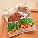 10 piezas padre blanco bolsa de regalo de navidad