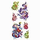 1pc Flying Dragon tatuaje impermeable molde muestra pegatina tatuajes temporales de arte corporal (18.5cm  8.5cm)