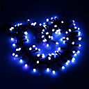 100LED 6.5m de color azul cadena de luz de la Navidad (AC220V)