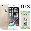 alto protector de pantalla transparente protector  back piel fijada para iphone 6 (10 piezas)
