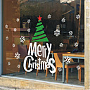 """alegre clásico árbol decorativo de Navidad y palabras Etiqueta de la ventana (78.72 """"W x 27.6"""" l)"""