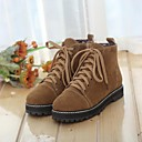 Womens Shoes Round Toe Low Heel Ankle Boots with Lace-up More Colors available