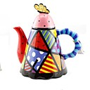 colores surtidos forma cónica con dibujos tetera, cafetera para el festival de regalo, pintura de cerámica