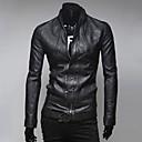 collar del soporte de la PU de la chaqueta delgada de bicicletas o de Lesen hombres