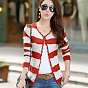 Womens Cut Out Stirpes Contrast Color Long Sleeve Sweater