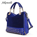 AikeweiliWomen's Bags Rivet Nubuck Leather Crossbody Totes Korean Style Shoulder Handbags