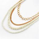 ouxier perla de las mujeres como el collar de la aleación