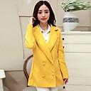 Xinfu™Womens 2014 newest fashion double-breasted coat slim fit Wool tweed coat Lady overcoat women dress trench coat