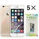 alto protector de pantalla transparente protector  back piel fijada para iphone 6 (5 piezas)