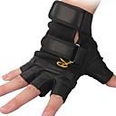 al aire libre tácticos ciclismo transpirable guantes de medio dedo de cuero