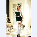 navidad señora traje de rendimiento de las mujeres verdes