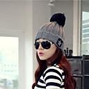 Womens Fashion Wool Ball Knitted Hat