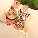 elegante todo el reloj de la pulsera de diamantes arco partido imitación de las mujeres de amapola