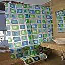18pcs Bathroom Set,Include 1pcs Shower Curtain 1pc Bath Mat 4pcs Bath Ensembles 12pcs Curtain Hooks