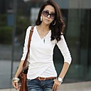 NUO WEI SI  Womens V Neck Leisure Bodycon T-Shirt