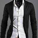 Mens Lapel Collar Solid  Color  Cotton Causel Long Sleeve Outwear