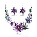 Womens Europe Delicate Flower Jewelry Set(Including Necklaces Earrings)