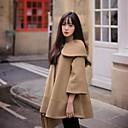 abrigo de tweed estilo coreano de las mujeres