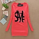 Womens Round Collar Long Sleeve T Shirt(More Colors)