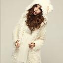 mokio abrigo de piel causal de la moda coreana de las mujeres