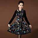 YINQIANWomens Fashion Elegent Slim Velvet Dress